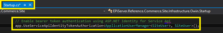Add AspNet Identity config to startup.cs