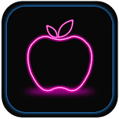 Apple Neon Wallpaper
