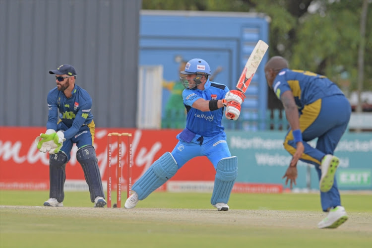 Rivaldo Moonsamy of the Multiply Titans the Momentum One-Day Cup match between VKB Knights and Multiply Titans at Diamond Oval on January 19, 2018 in Kimberley, South Africa.