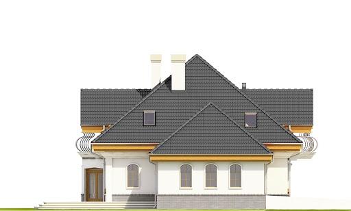 Dzierlatka III styl z garażem 2-st. A - Elewacja lewa