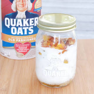 Peaches and Cream Overnight Oats.