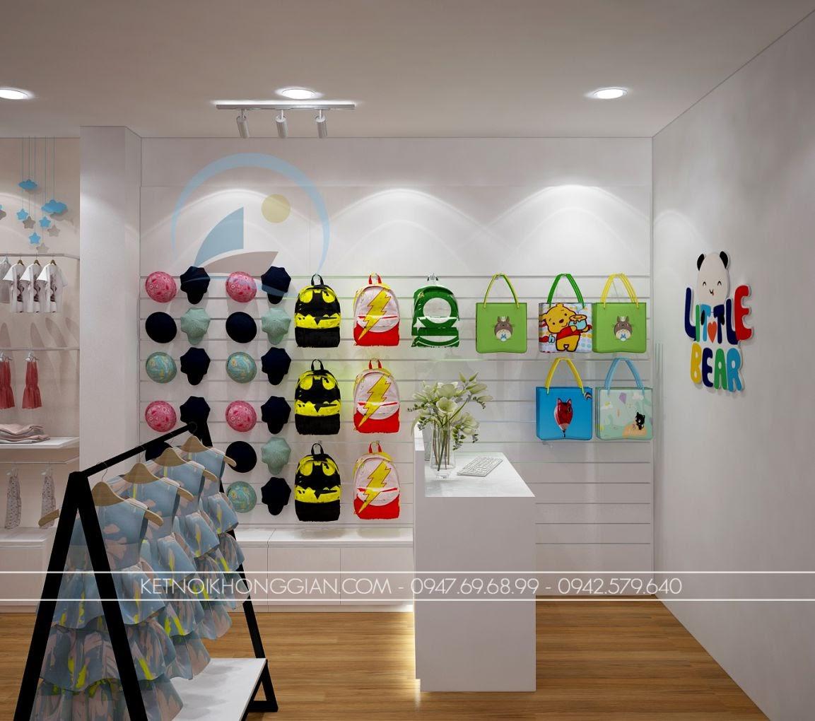 thiết kế shop thời trang trẻ em giá rẻ 10
