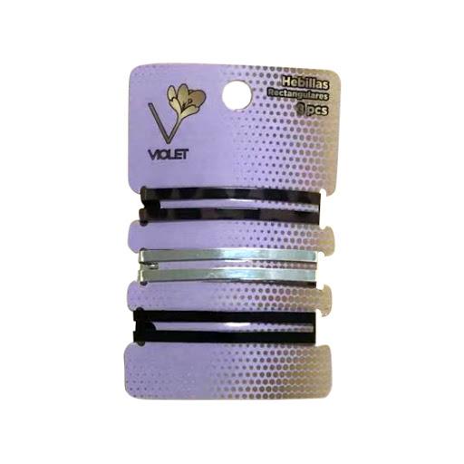 hebillas violet rectangulares x3und