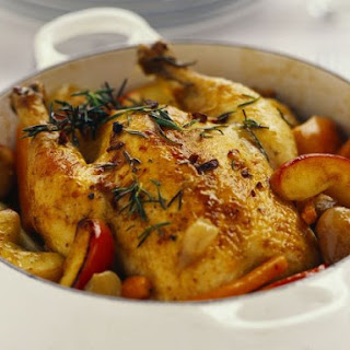 Pot Roast Chicken with Apples