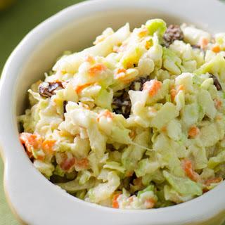 Veggie Coleslaw With Avocado Mayo and Cashew Sour Cream [Vegan]