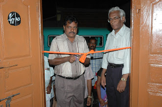 Photo: Mr.Sudarshan,Director,JSS cutting the ribbon to delcare open the Rural CTC