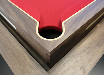 Corner Pocket of Spartan Pool Table Concept