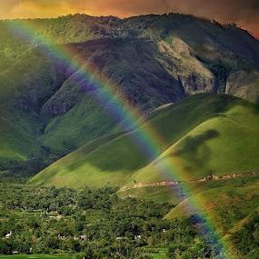 Peace in mind by Alexander Nainggolan - Landscapes Mountains & Hills ( north sumatra, lake toba, golden hour, danau toba, indonesia, blue hour, landscape, wonderful indonesia,  )