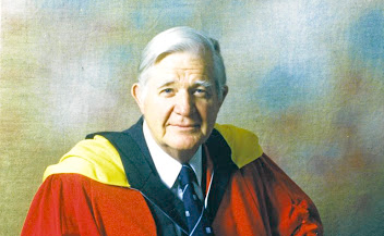 Outstanding career: Prof Guy Butler, after being awarded his honorary doctorate in literature from Rhodes University in 1994. He was an academic and a playwright, memoirist and poet. Butler died in 2001. Picture: NATIONAL ENGLISH LITERACY MUSEUM