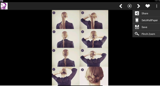 Hairstyles haircut & tutorials Screenshot