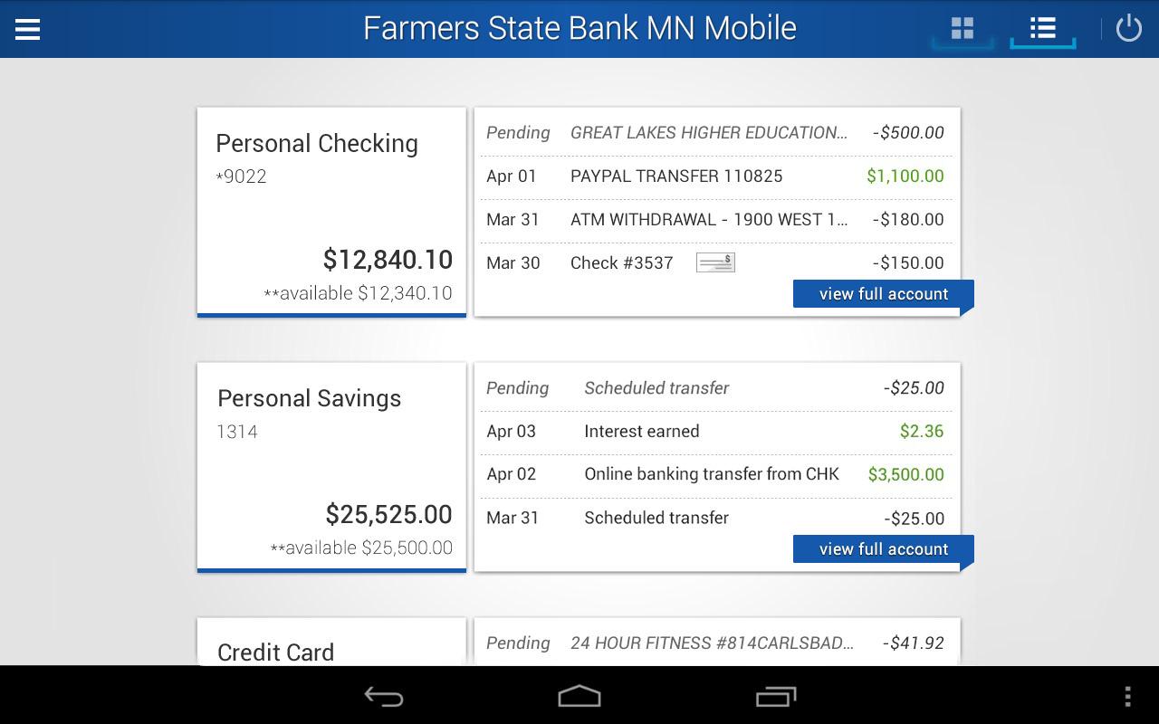 Farmers State Bank MN Mobile - screenshot