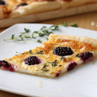 Blackberry And Goat's Cheese Tart.