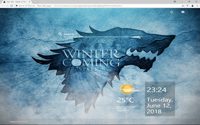 Game of Thrones - New Tab page