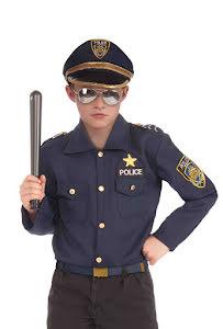 Polisskjorta och hatt, barn L