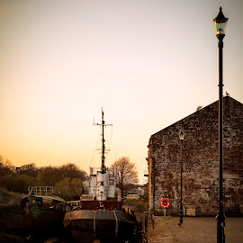 Annan Harbour by James Johnstone - Uncategorized All Uncategorized ( harbour, annan, port, fishing, lamp, boat )