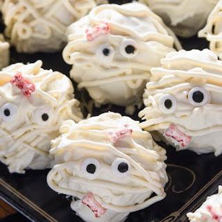 Delicious Candy Corn Mummy Truffles