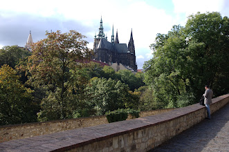 Photo: Prague castle, from the east side by the Queen's summer home.