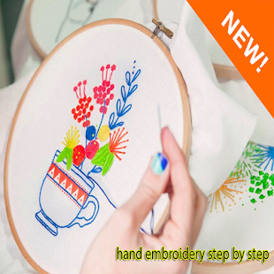 hand embroidery step by step - náhled