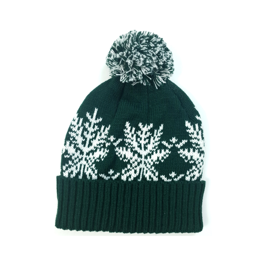 Green Snowflake Hat (Wholesale) - Pack of 50