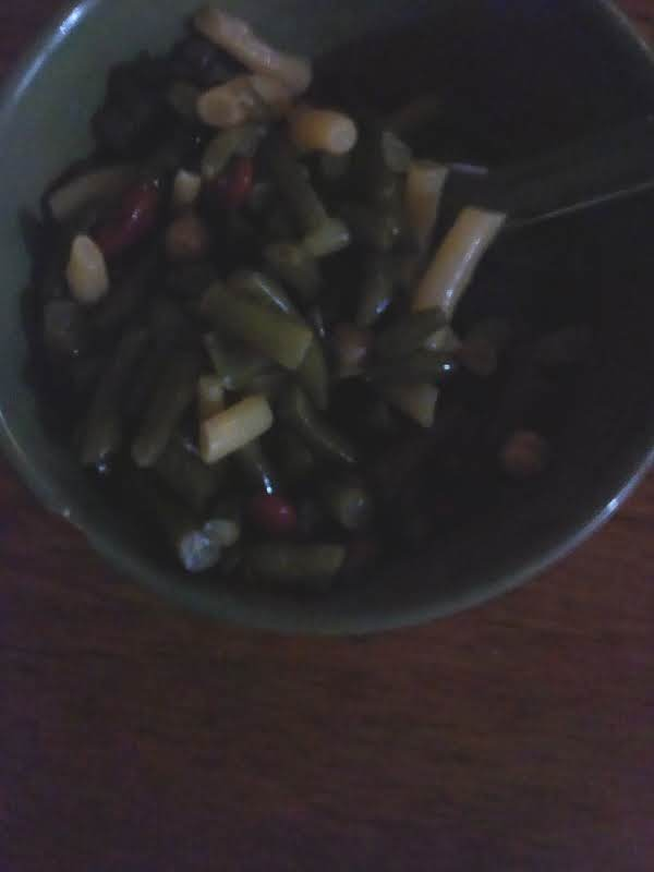 Three Bean With A 4th Added Of Chic Peas. Wihy Not? Had A Spare Can Of