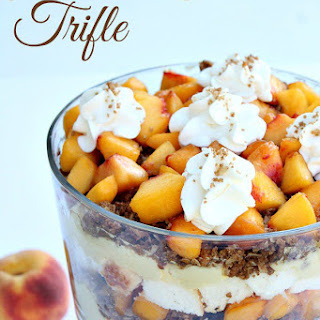 Peach Crisp Trifle