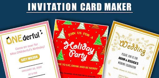 Invitation Card Maker Ecards Digital Invites Apps On