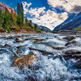Flow Of Life by Tien Sang Kok - Landscapes Waterscapes ( blue sky, mountain, nature, motion, landscape, river,  )