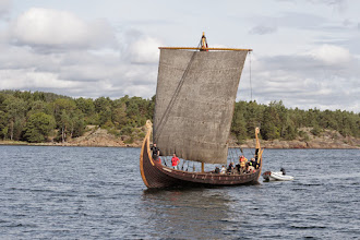 Photo: Met this recently built Oseberg viking ship replica on the way north