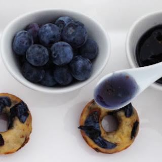 Mini Blueberry Donuts.