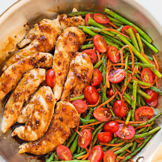 One Pan Balsamic Chicken and Veggies.