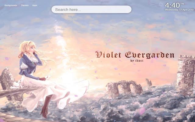 Violet Evergarden HD Wallpaper New Tab