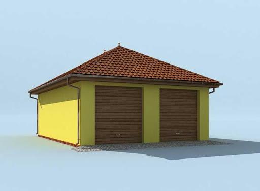 G202 - Budynek rekreacyjny z sauną - Elewacja lewa