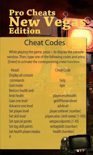 Pro Cheats - New Vegas Edition
