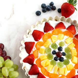 No-Bake Rainbow Fruit Tart..