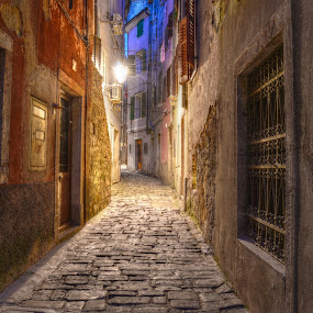 In The Middle Of The Night by Mara R. Sirako - City,  Street & Park  Historic Districts ( history, piran, cultural heritage, pirano, old city, old town, stone, old building, medieval )