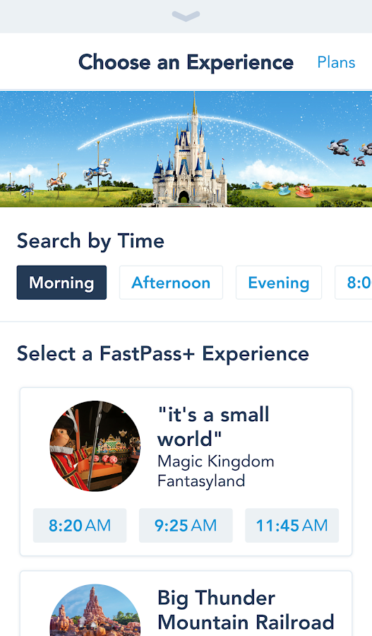 My Disney Experience- screenshot