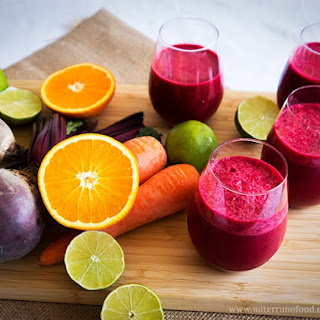 Power Breakfast Smoothie with Beetroot, Carrot and Coconut Milk Recipe