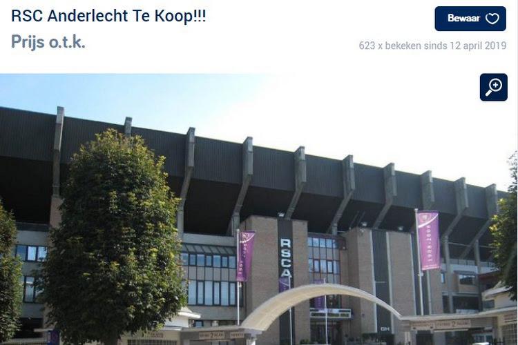 Les fans d'Anderlecht mettent leur club en vente et ont créé un faux compte Twitter Coucke