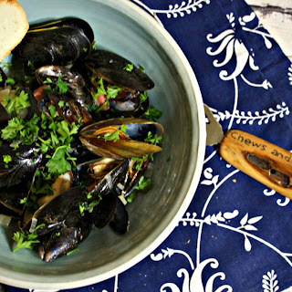 Gose Beer Steamed Mussels.