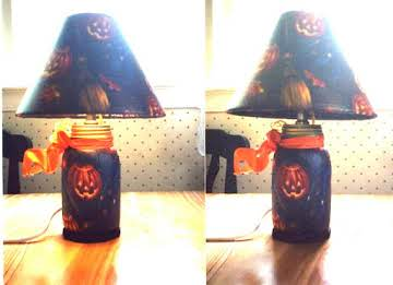 Hand made Halloween lamps
