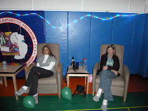 Photo: Diane and Liaza waiting for the dancing to start.