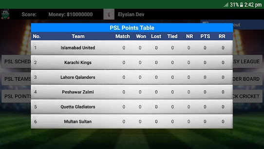 Fantasy League for PSL Apk 2