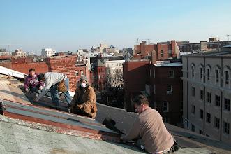 Photo: December 2004 - Month 16: Leo, Francisco, Zenom & Joe. A great view