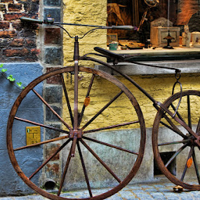 Bicycle in Copenhagen by Ruth Sano - Transportation Bicycles ( bike, old wooden wheels,  )