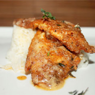 Creole Fried Fish with Thyme Butter Sauce