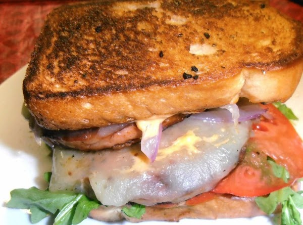 toast bread on both sides in same skillet. build your sammich: spread mayo on...