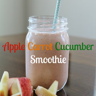 Apple Carrot Cucumber Smoothie.
