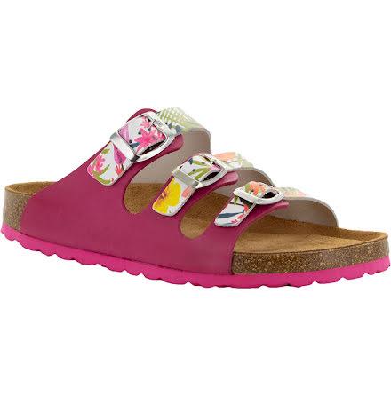"""Jonna cerise """"bio""""sandal med reglerbara spännen"""