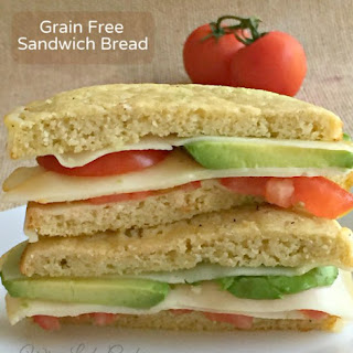 Easy 5 Ingredient Grain Free Sandwich Bread.