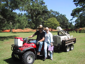 Photo: The FSU Anthropology Geoprobe is a small, compact 'coring' system pulled by a small Honda ATV (Mission San Luis, Dr. Bonnie McEwan  http://www.flheritage.com/archaeology/projects/msl.cfm). Many of our students have worked at MSL over the years.